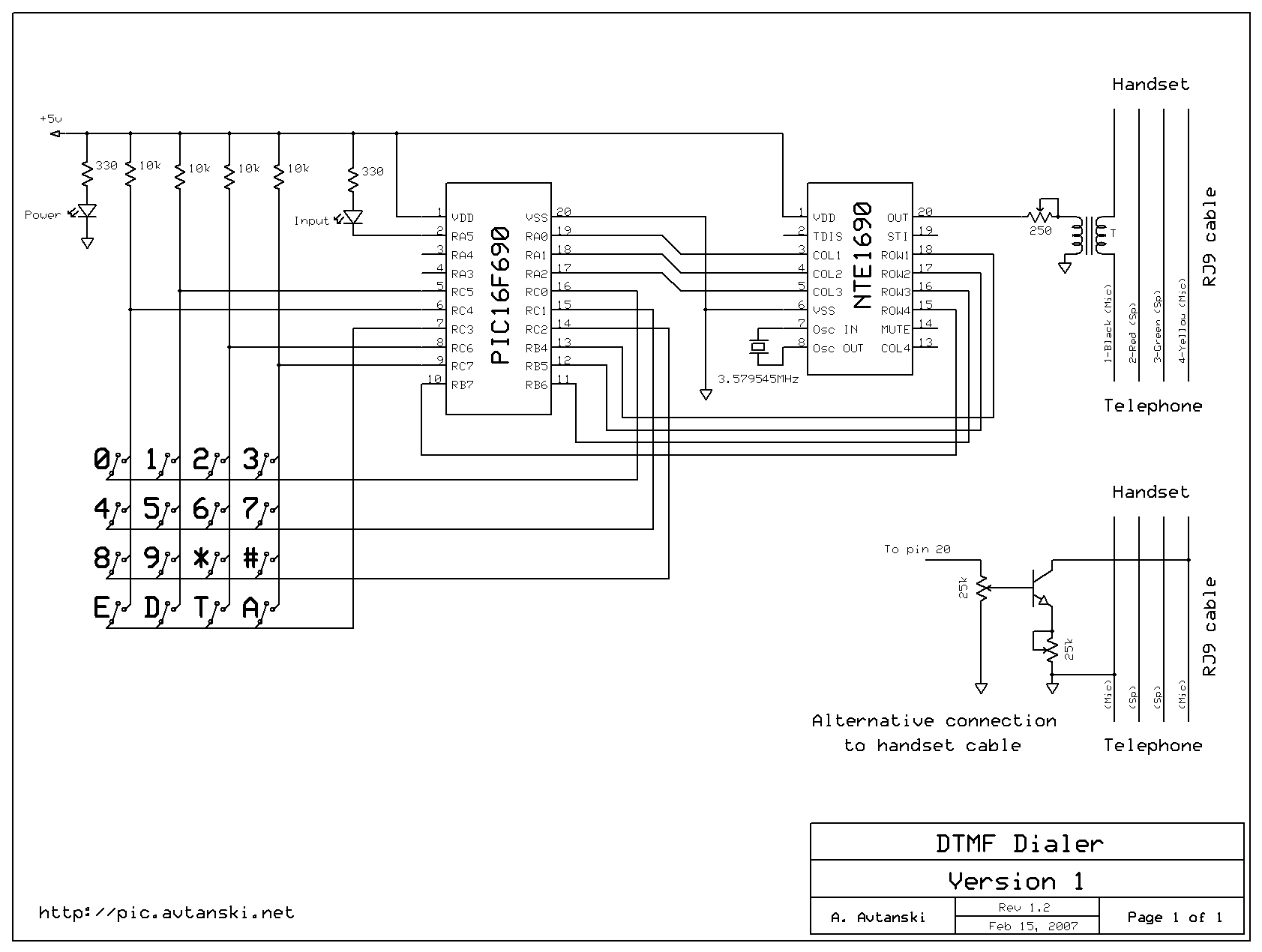 Dtmf Circuit Diagram Pdf And Schematics Based Home Automation Project With Phone Dialer